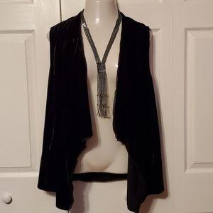Drape style velvet vest plus size 1X NWOT